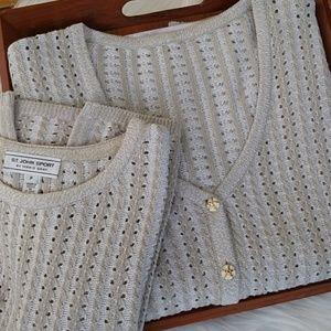 Just in! ST JOHN Sweater Set (2-Piece) Wool Blend